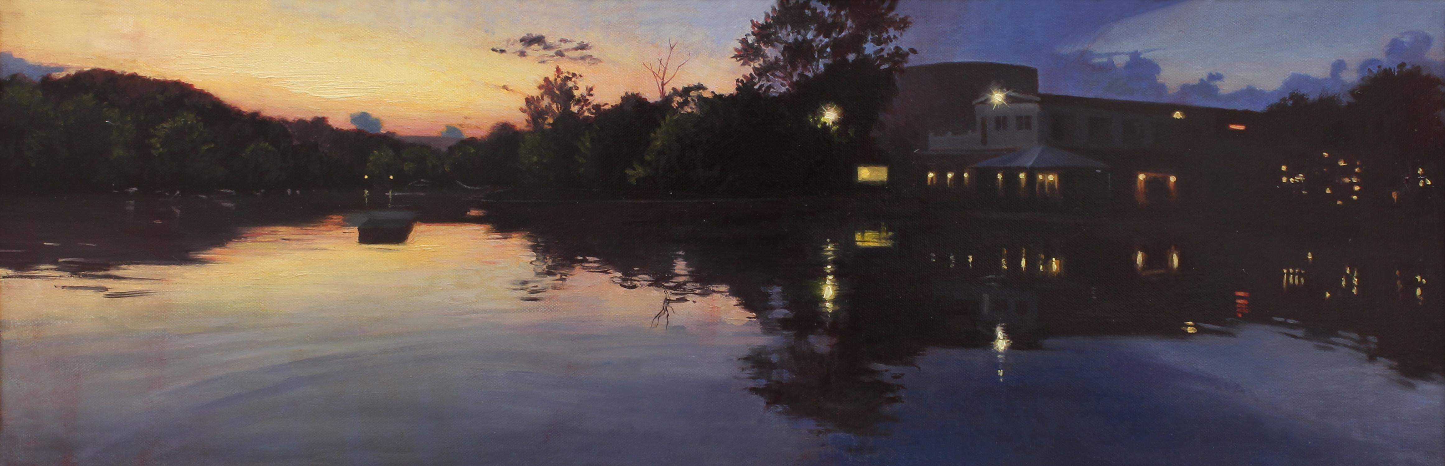 """""""Twilight"""" - Nocturne - Landscape Painting - American Realism - Wyeth"""