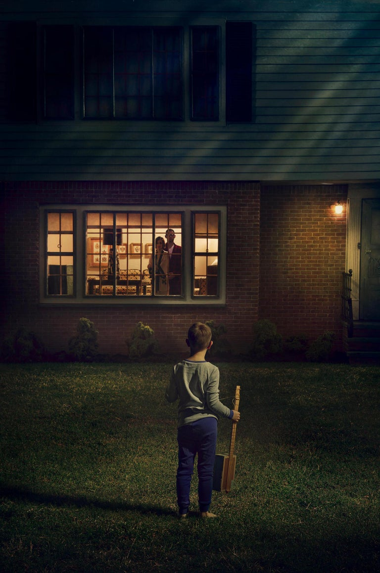 Richard Tuschman Color Photograph - On the Lawn at Night