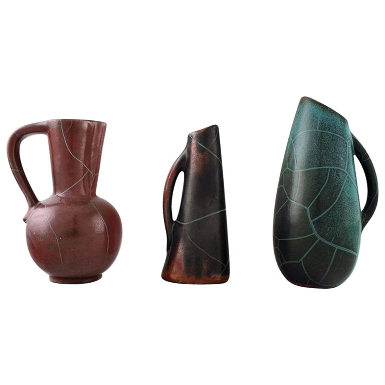 Richard Uhlemeyer, German Ceramist, Collection of Ceramic Jugs or Vases For Sale