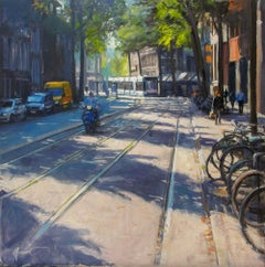 ''Amsterdam'' Contemporary Impressionistic Painting of Amsterdam, Netherlands