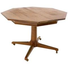 Richardson Midcentury Walnut Octagonal Dining Table