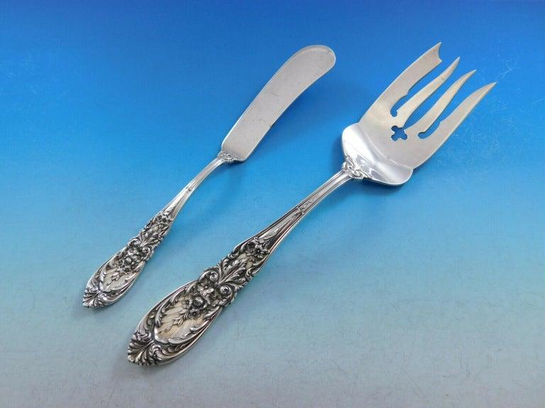 Richelieu by International Sterling Silver Flatware Set Service 56 Pcs Dinner For Sale 3