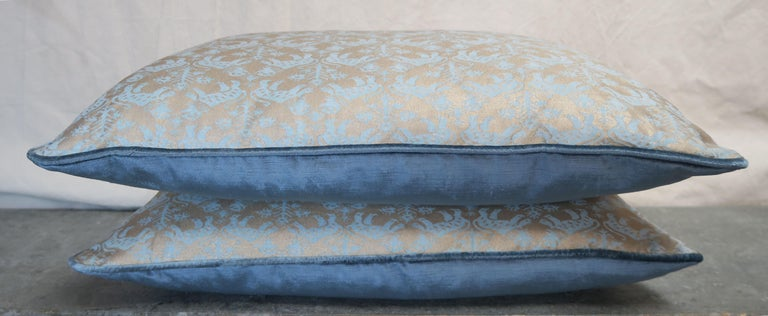 Contemporary Richelieu Fortuny Textile Pillows, Pair For Sale