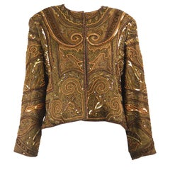 Richilene Vintage Intricately Beaded & Embroidered Shoulder Padded Trophy Jacket