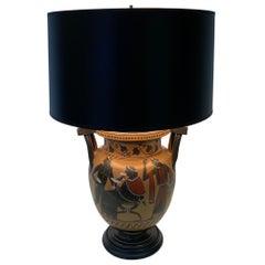 Richly Elegant Classical Style Greek Vase Lamp