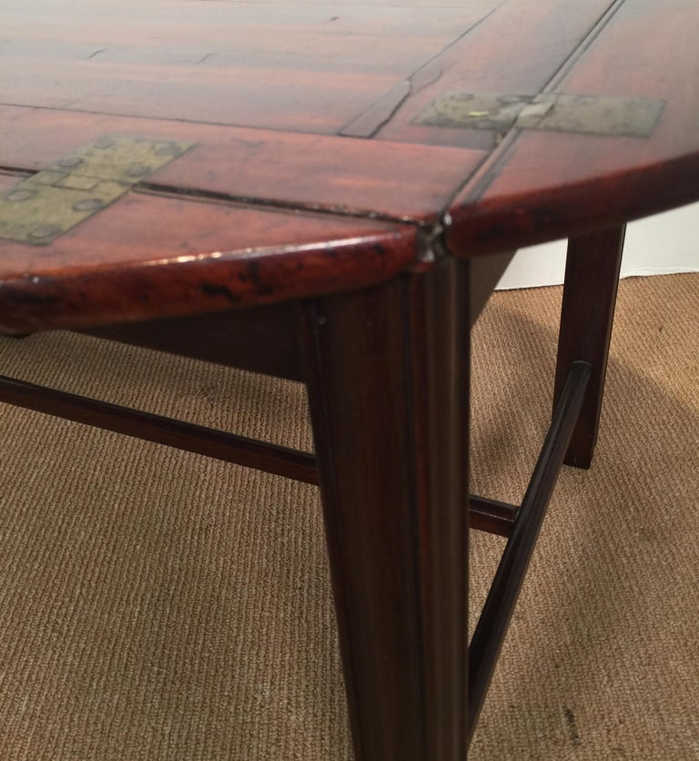 Richly Figured Mahogany Warm Patina Antique Butlers Tray on a Later Base 7