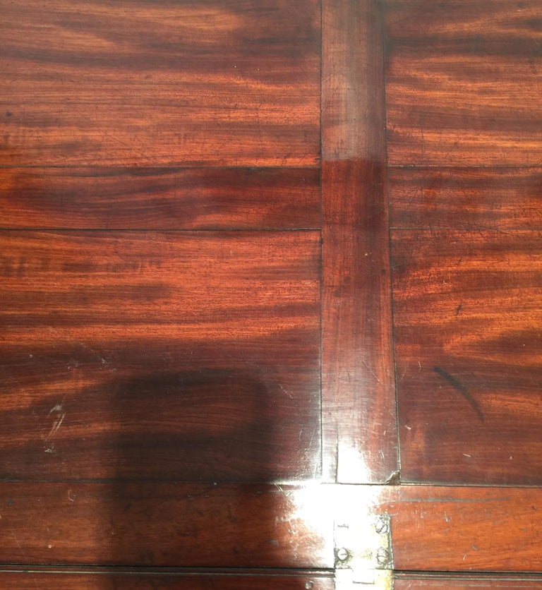 Richly Figured Mahogany Warm Patina Antique Butlers Tray on a Later Base 2