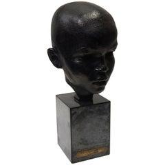 "Richmond Barthe Important African American Artist Bronze Head, ""Julius"""