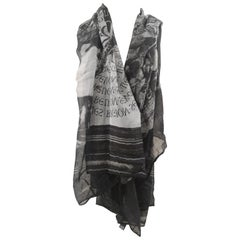 Richmond black and grey scarf foulard