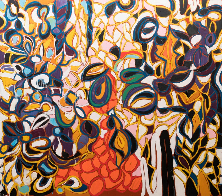 Richmond Burton Abstract Painting - Everything is Early