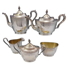 Richmond Chased by International Sterling Silver Tea Set 5-Piece Hand Chased