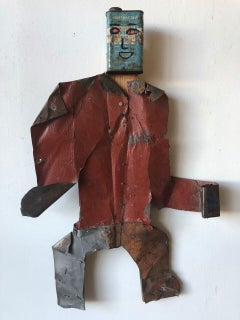 I'm a Rough Worker Man with Mixed Media//Folk Art
