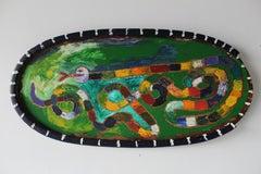 Snake in Oval Frame