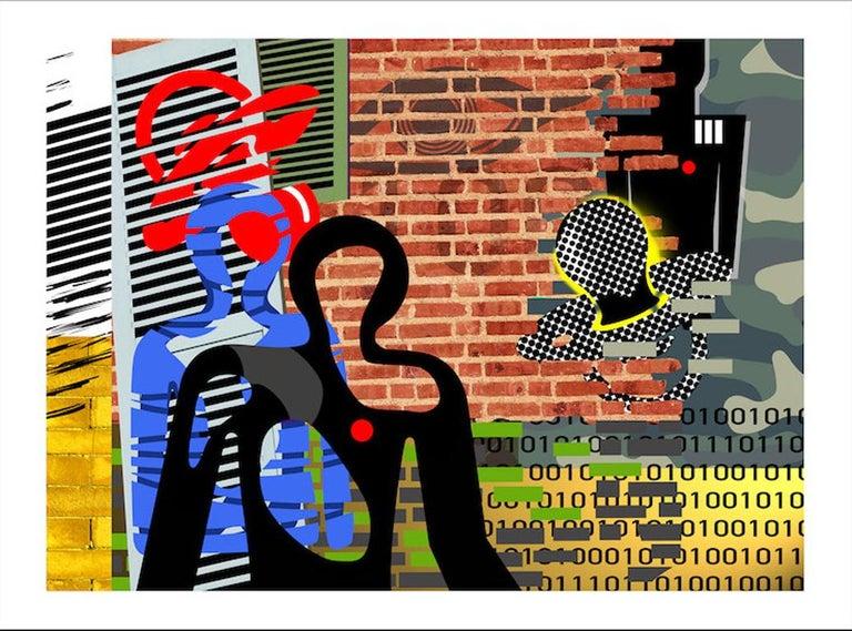 Rick Garcia Abstract Print - Data Driven