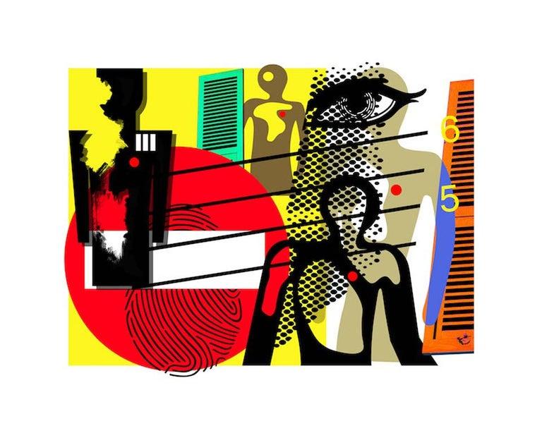 Rick Garcia Abstract Print - Do Not Enter