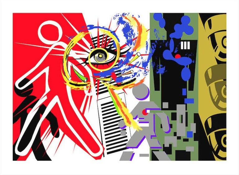 Rick Garcia Abstract Print - Observation