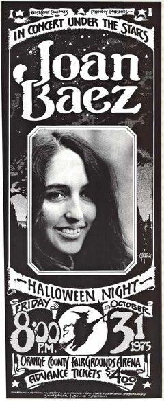 Joan Baez in Concert Under the Stars original 1975 Concert vintage poster