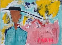 A Cowboy in Paris, Original Painting