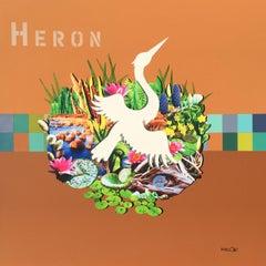 Heron, Mixed Media on Canvas