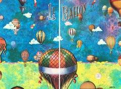 Le Baloon, Mixed Media on Canvas