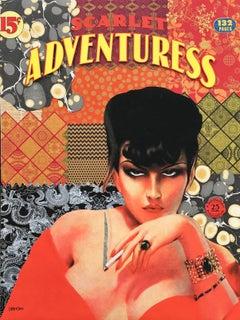 Scarlett Adventuress, Mixed Media on Canvas