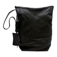 Rick Owens Black Leather Shoulder Bag