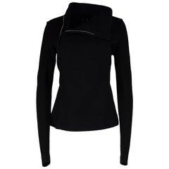 Rick Owens Black Wool Blend Zip Up Sweater Jacket NWT Sz IT 48, Runs Small