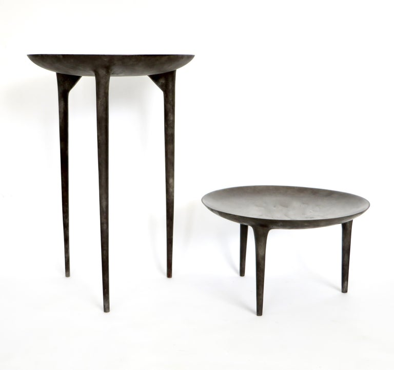 Rick Owens Cast Bronze Low Brazier Side Table Nitrate Patina 6
