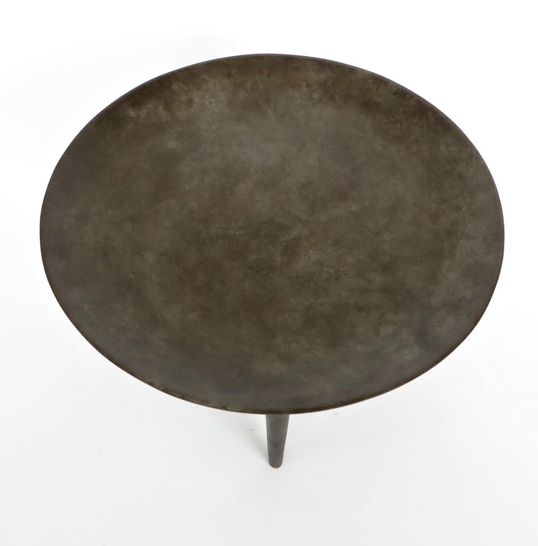 Rick Owens Cast Bronze Low Brazier Side Table Nitrate Patina In New Condition In Chicago, IL
