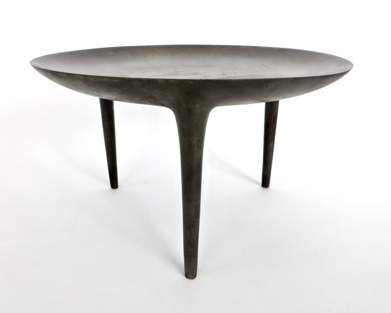 Rick Owens Cast Bronze Low Brazier Side Table Nitrate Patina 1