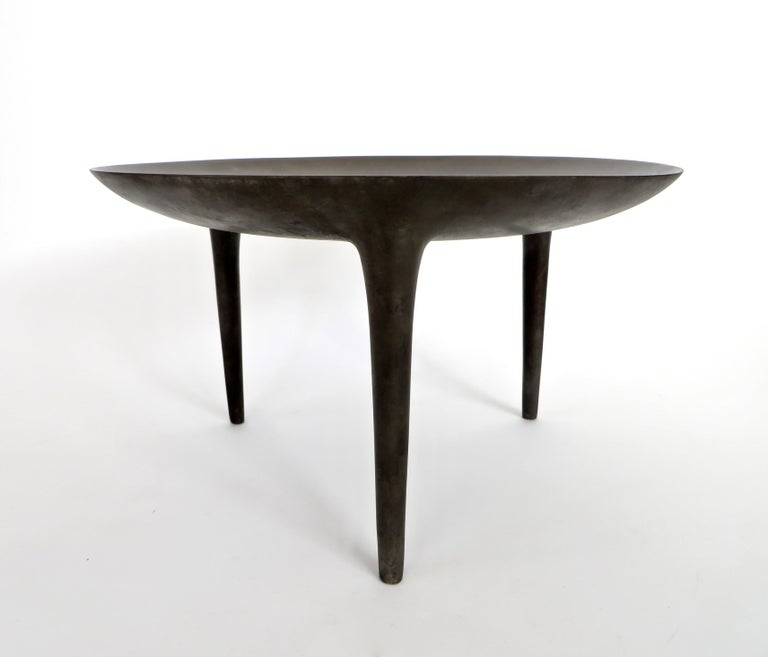 Rick Owens Cast Bronze Low Brazier Side Table Nitrate Patina 2