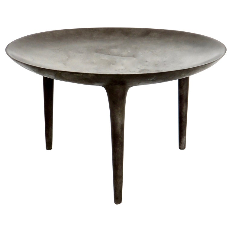 Rick Owens Cast Bronze Low Brazier Side Table Nitrate Patina