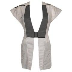 Rick Owens Colorblock Nylon Carapace Cap Sleeve Vest S