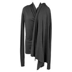 RICK OWENS Lilies One Size Charcoal Acetate Draped Cardigan