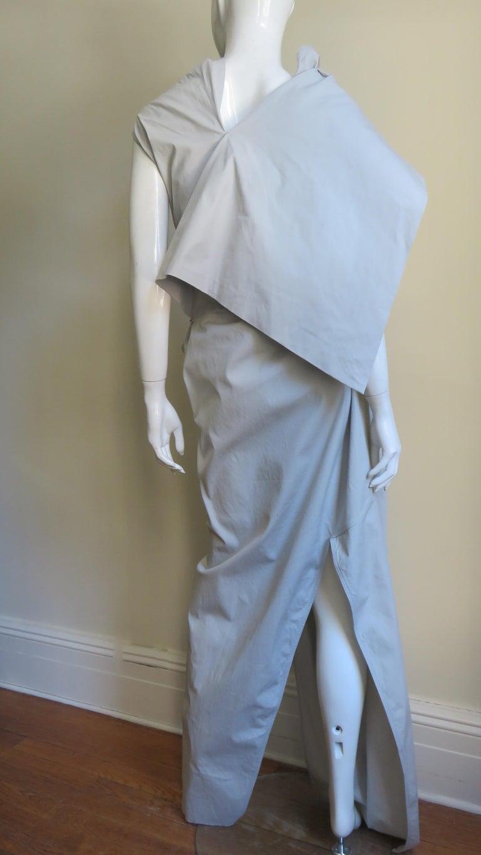 Rick Owens New Sculptural Walrus Maxi Dress For Sale 9