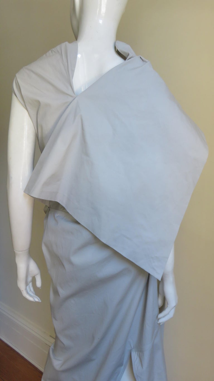 Rick Owens New Sculptural Walrus Maxi Dress For Sale 10