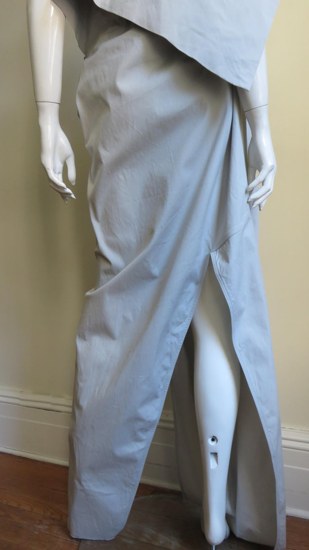Rick Owens New Sculptural Walrus Maxi Dress For Sale 11