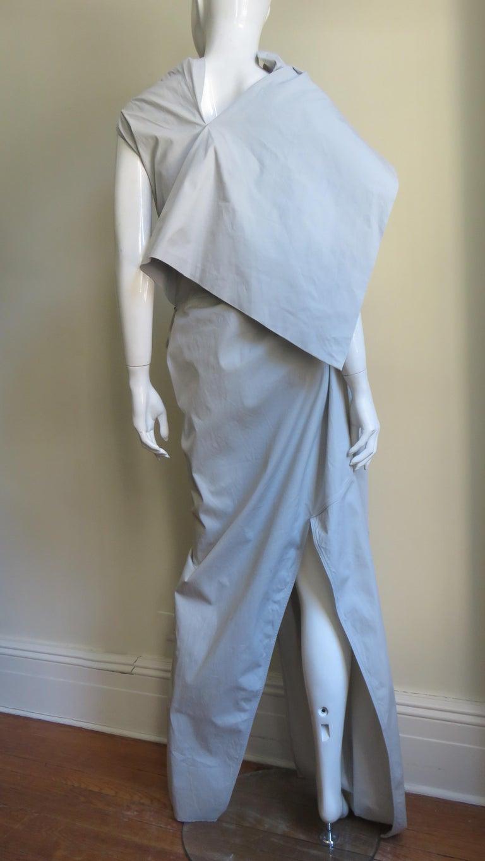 Rick Owens New Sculptural Walrus Maxi Dress For Sale 12