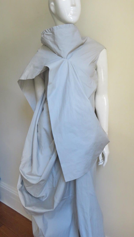 Blue Rick Owens New Sculptural Walrus Maxi Dress For Sale