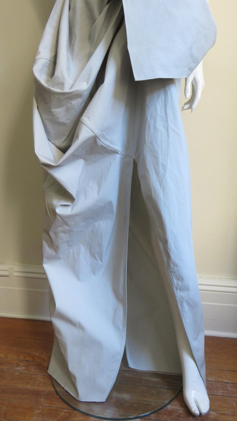 Rick Owens New Sculptural Walrus Maxi Dress In Excellent Condition For Sale In Water Mill, NY