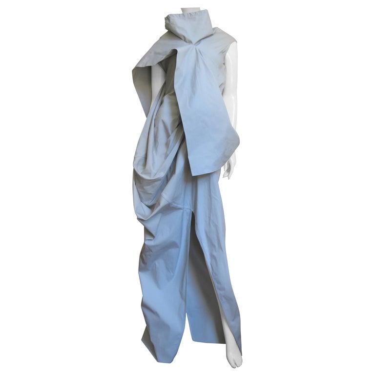 Rick Owens New Sculptural Walrus Maxi Dress For Sale