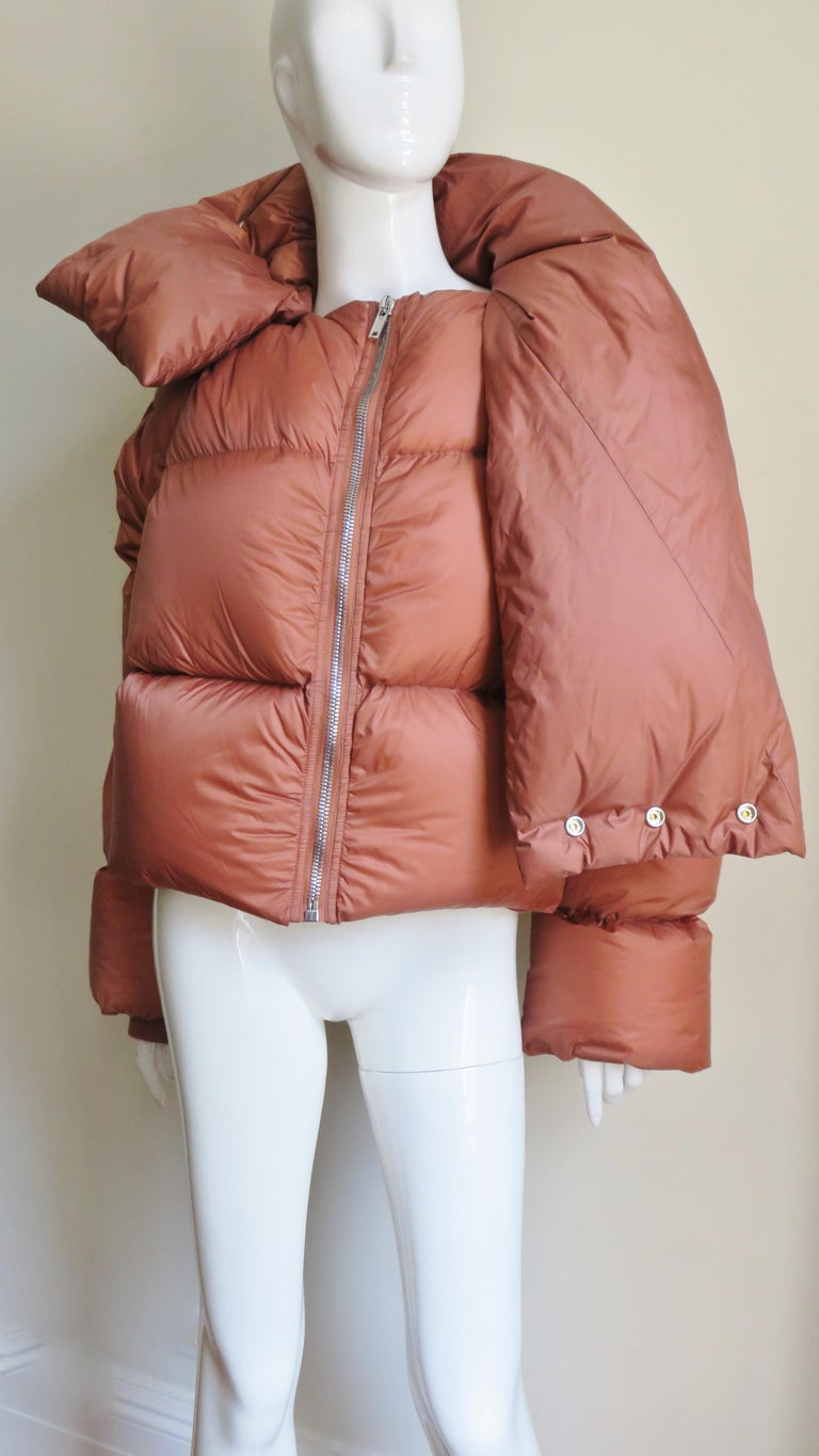 Pink Rick Owens Puff Jacket A/W 2018 For Sale