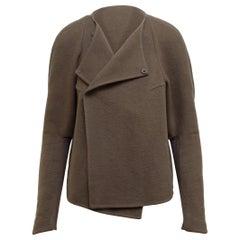 Rick Owens Taupe Cashmere Jacket