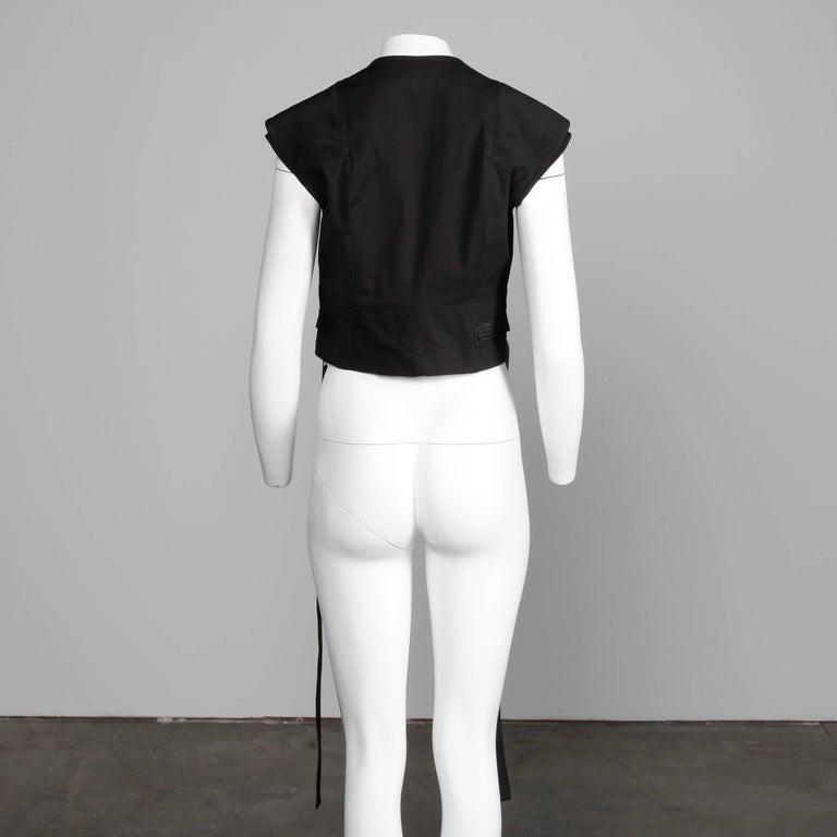 Women's Rick Owens Unworn with Tags S/S 2015 Avant Garde Black Leather Jacket or Vest For Sale