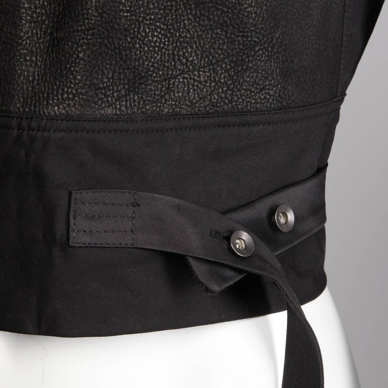 Rick Owens Unworn with Tags S/S 2015 Avant Garde Black Leather Jacket or Vest For Sale 2