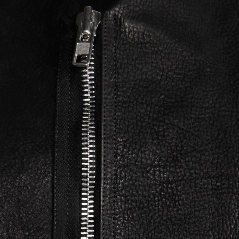 Rick Owens Unworn with Tags S/S 2015 Avant Garde Black Leather Jacket or Vest For Sale 3