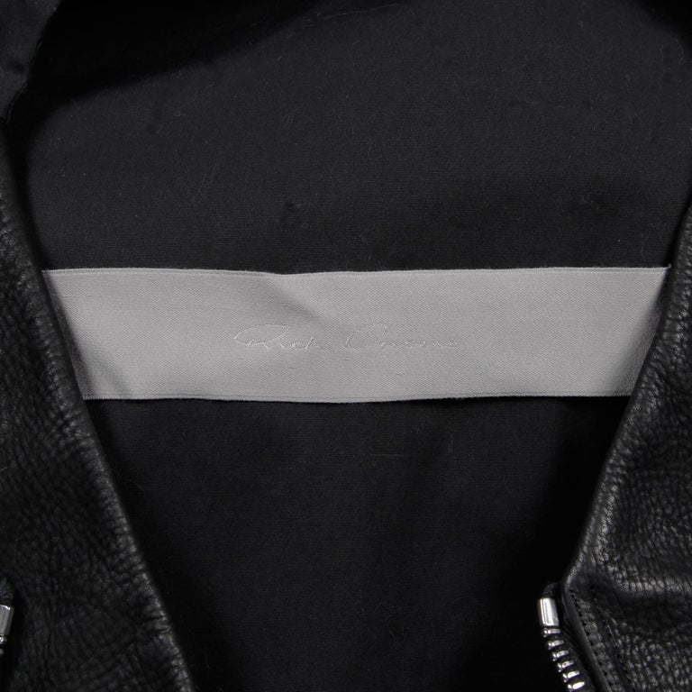 Rick Owens Unworn with Tags S/S 2015 Avant Garde Black Leather Jacket or Vest For Sale 4