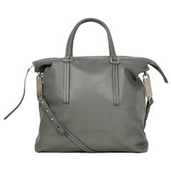 Rick Owens Walrus Grey Leather Tote Bag rt $1,495