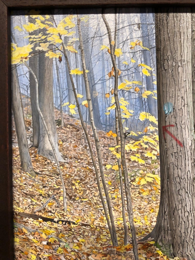October Woods - Highly Detailed Painting of Deer in Leaf Blanketed Forest 5