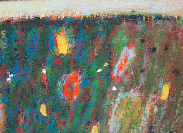 Modern Rick Stevens Oil Painting on Canvas Invoking the Unknown, Abstract Expressionist
